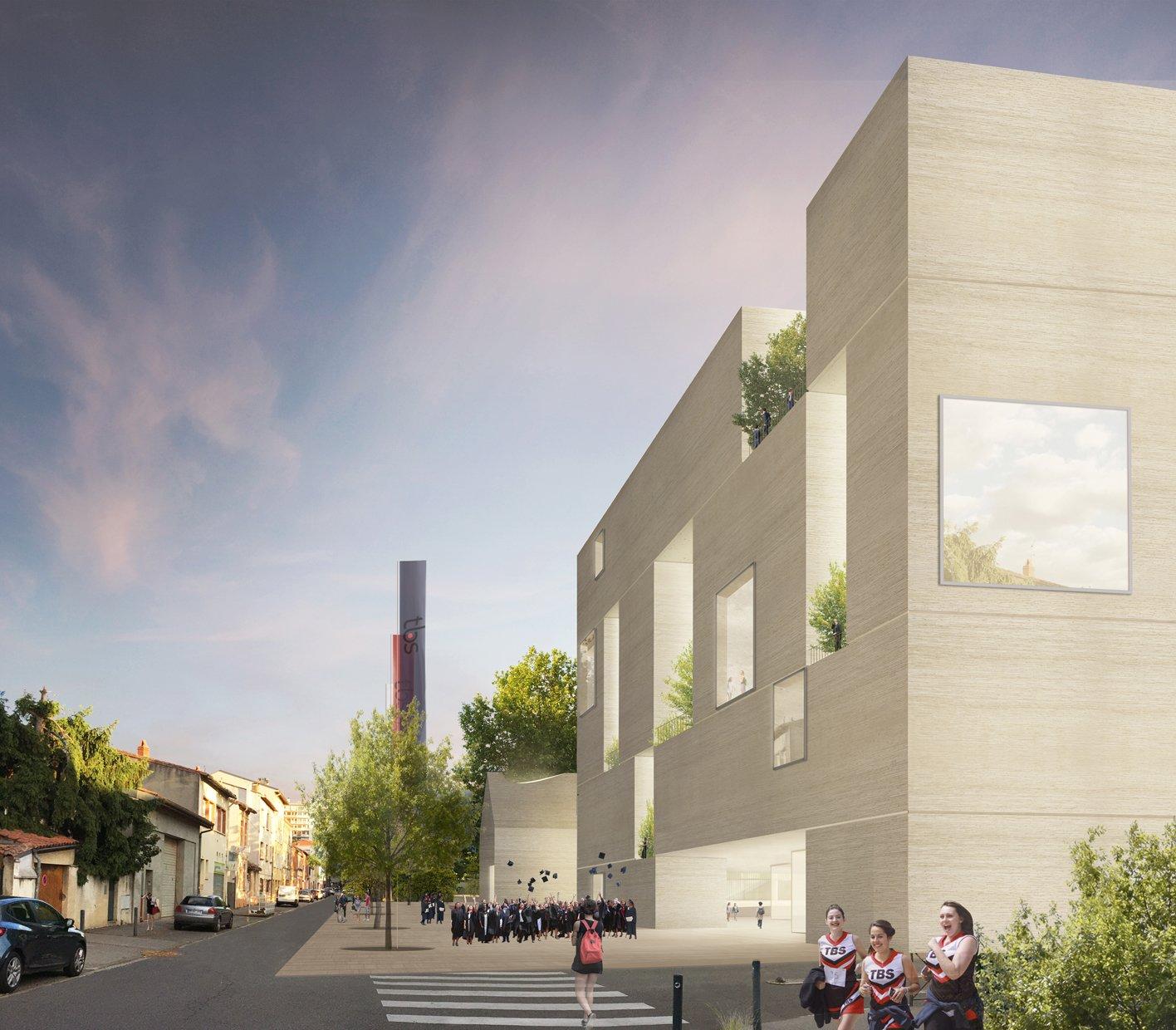 Novo Campus da Toulouse Business School com arquitetura de Aires Mateus